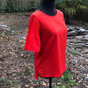 French Connection red blouse size XS